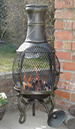 The Alacante fire basket chiminea