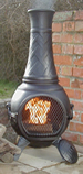 The Basketweave Chiminea Black £105